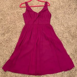 J. Crew Fuchsia bridesmaid dress